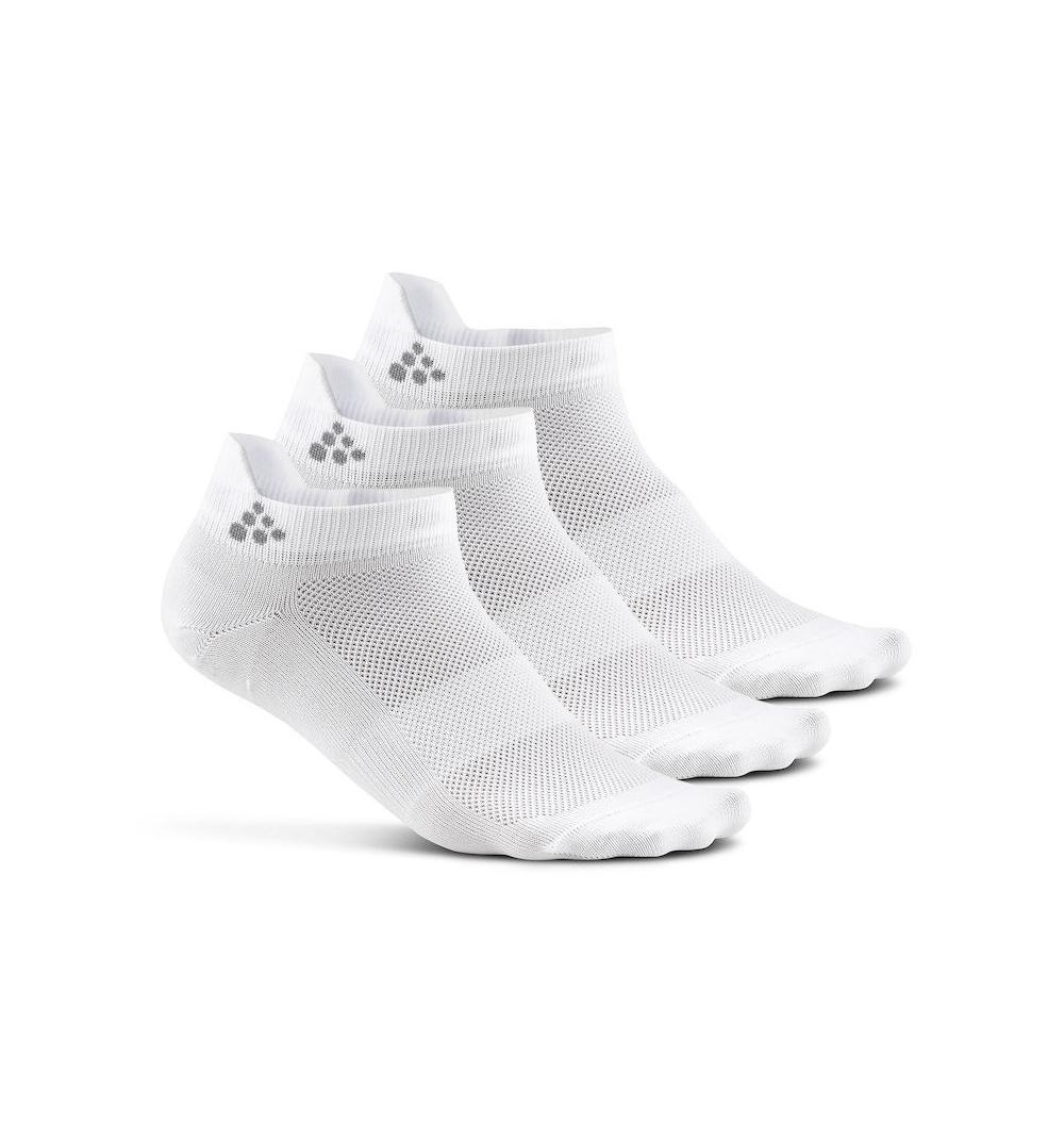 Skarpetki treningowe Craft Cool Shaftless 3-pack Sock białe