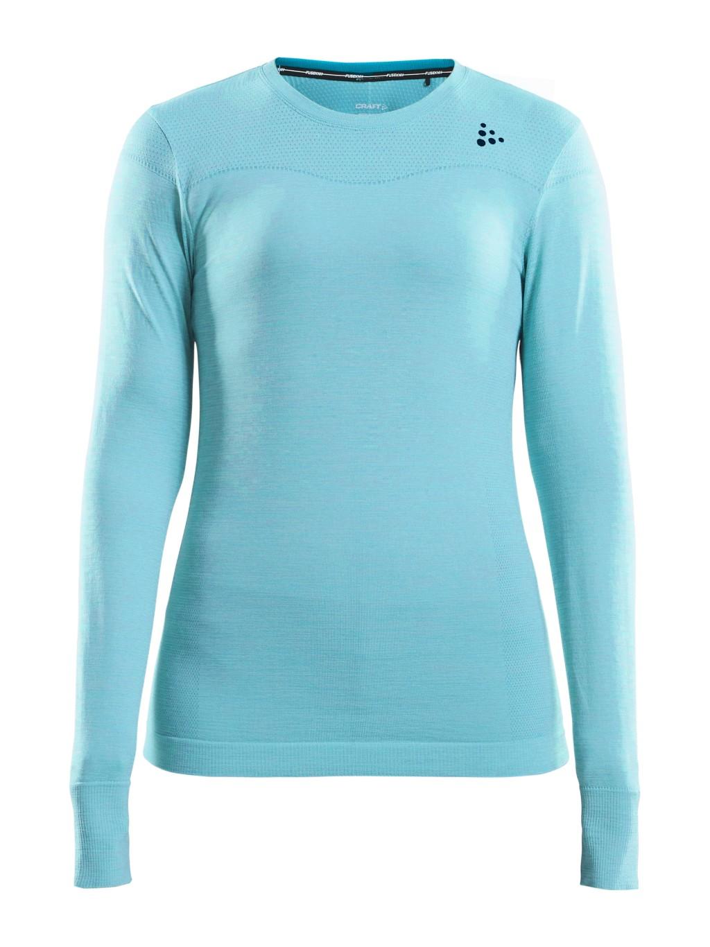Koszulka termoaktywna damska Craft Fuseknit Comfort RN LS W B³êkitna