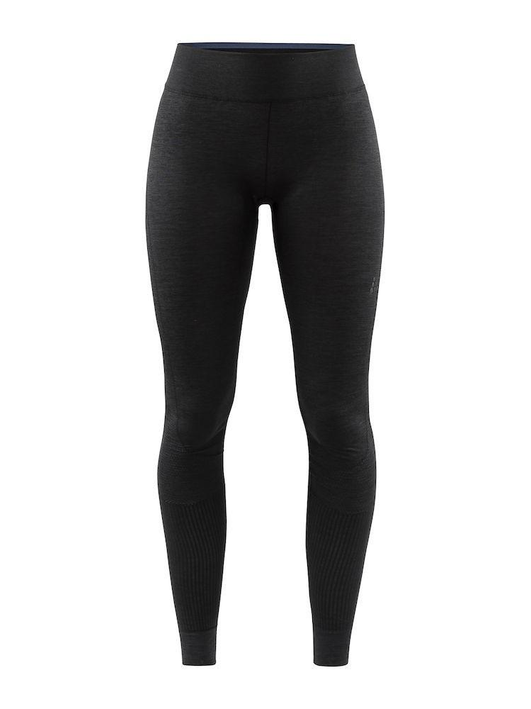 Legginsy termoaktywne damskie Craft Fuseknit Comfort Pants, czarne