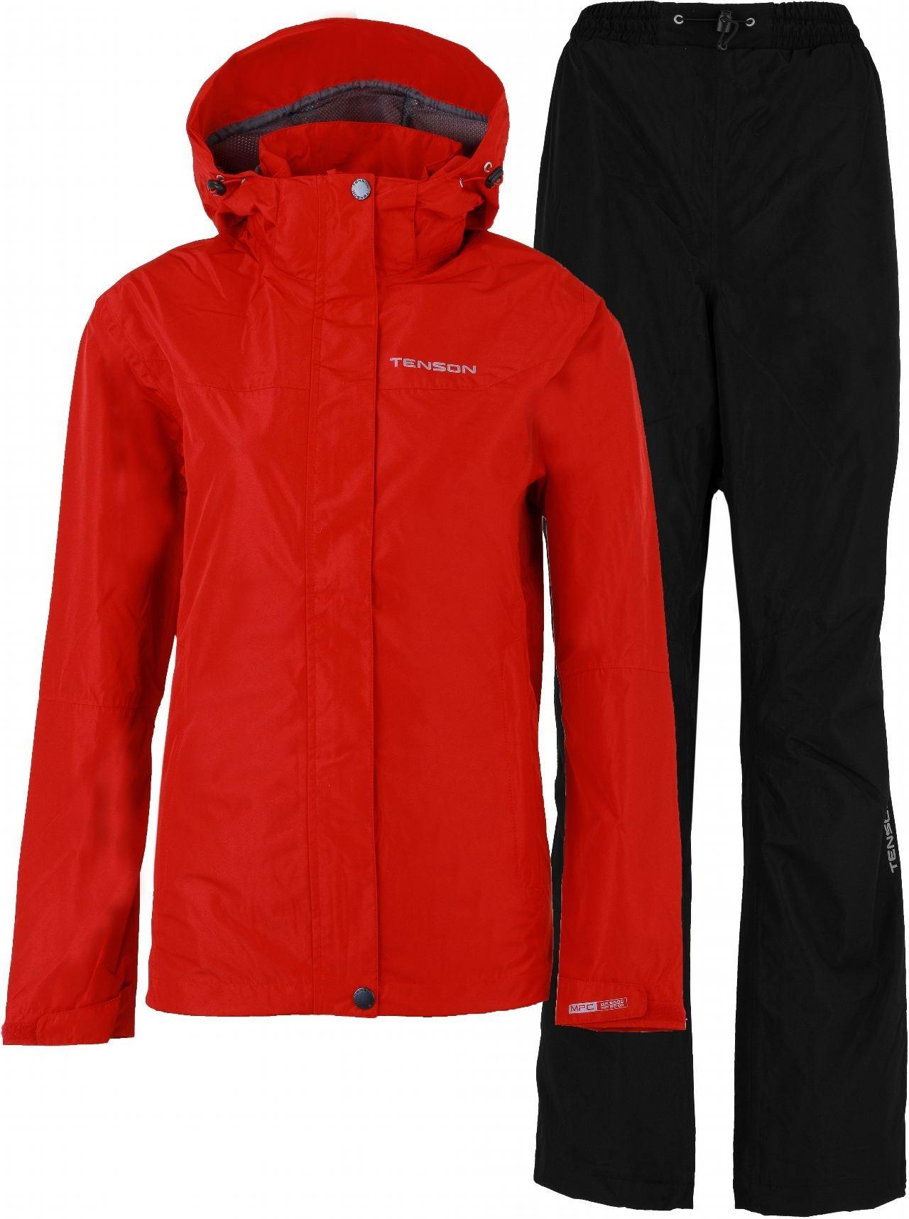 Zestaw kurtka i spodnie damskie Tenson Monitor Set W Czerwony/czarny
