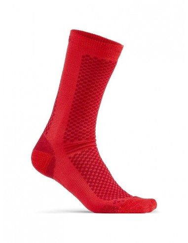 Skarpetki unisex Craft Warm Mid 2-Pack Czerwone