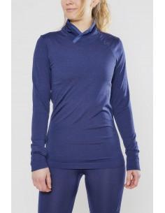 Golf termoaktywny damski Craft Fusenkit Comfort Wrap LS, granatowy