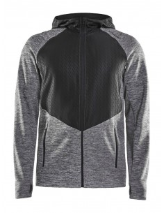 Bluza męska Craft Charge Sweat Hood Jacket, szara