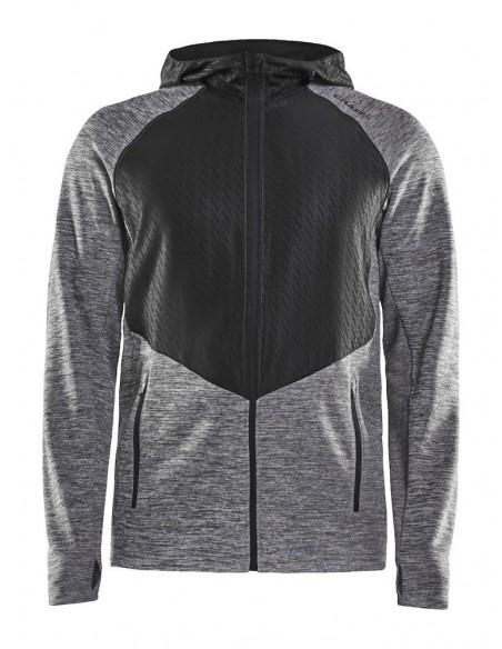 Bluza męska Craft Charge Sweat Hood Jacket, szara