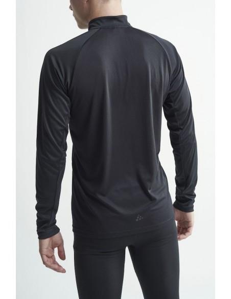 Koszulka z dł. rękawem męska Craft Eaze LS Half Zip Tee, czarna
