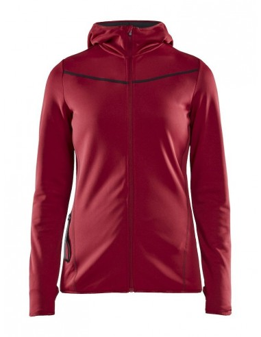 Bluza damska Craft Eaze Sweat Hood Jacket, bordowa