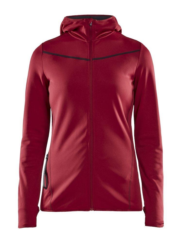 Bluza damska Craft Eaze Sweat Hood Jacket, bordowa S