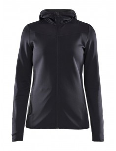 Bluza damska Craft Eaze Sweat Hood Jacket, czarna