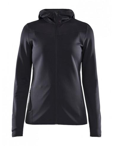 Bluza damska Craft Eaze Sweat Hood Jacket, czarna