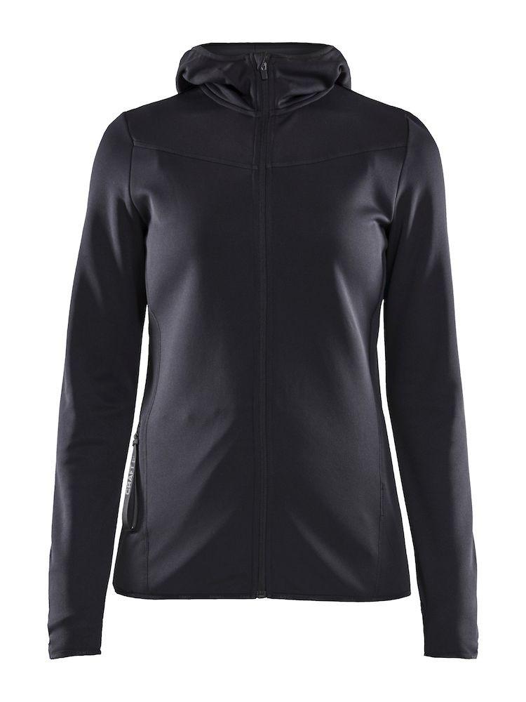 Bluza damska Craft Eaze Sweat Hood Jacket, czarna XS