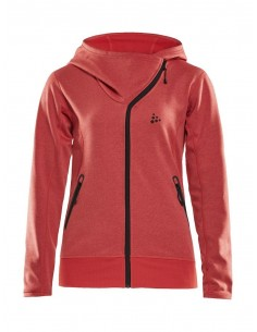 Bluza damska Craft Sports fleece assymetric, różowa