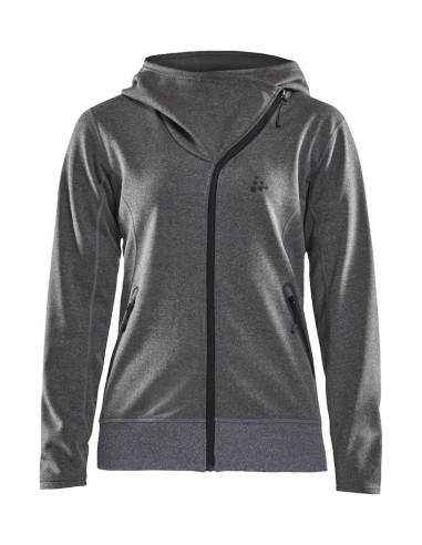 Bluza damska Craft Sports fleece assymetric, szara