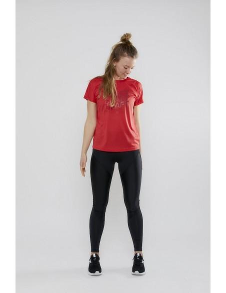 Treningowa Koszulka damska Craft Eaze SS Logo Mesh Tee Czerwona
