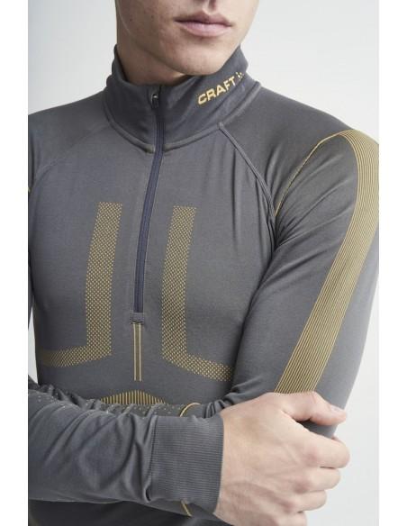 Koszulka męska Craft Active Intensity Zip Szara