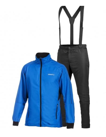 Komplet Kurtka + Spodnie męskie Craft AXC Niebiesko-Czarne