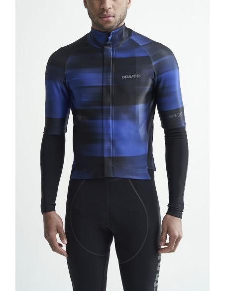 Koszulka rowerowa męska Craft CTM Goretex Czarno-Niebieska
