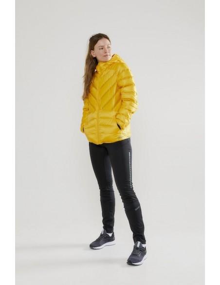 Kurtka damska Craft LT Down JKT Żółta