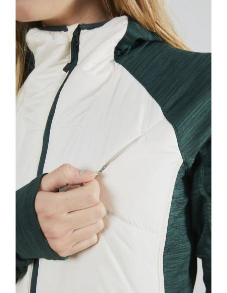 Bluza damska Craft Polar LT Midlayer Biało-Zielona