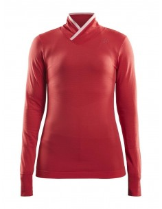 Koszulka termoaktywna damska Craft Fuseknit Comfort WRAP Czerwona