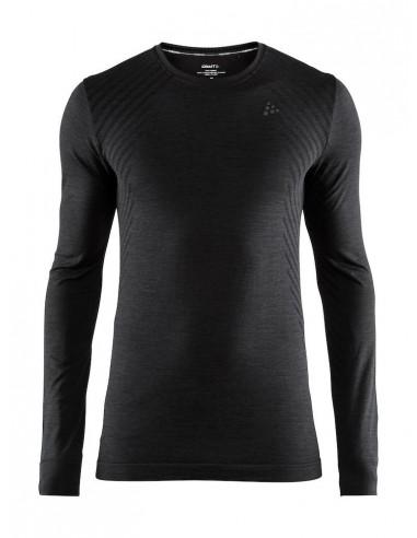 Koszulka męska z długim rękawem Craft Fuseknit Comfort RN Czarna