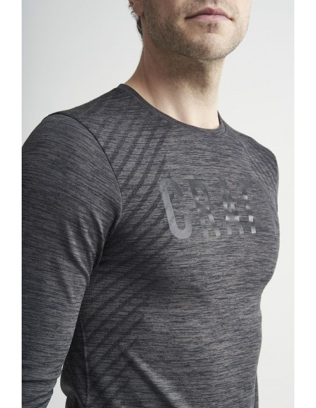 Koszulka męska z długim rękawem Craft Fuseknit Comfort RN Grafitowa