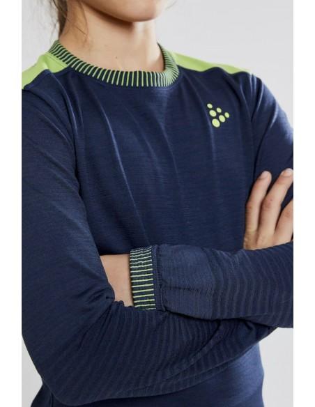 Koszulka dziecięca Craft Fuseknit Comfort RN JR Granatowa