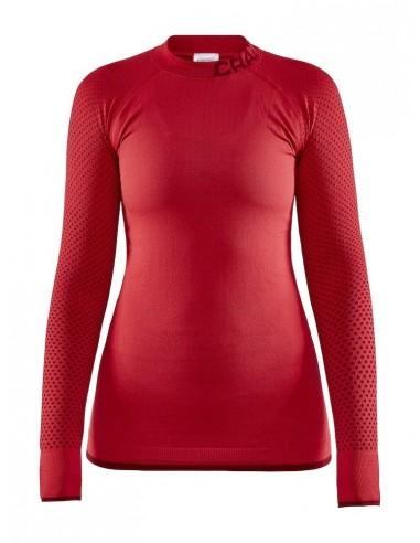 Koszulka termoaktywna damska Craft Warm Intensity CN LS, czerwona