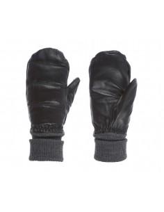 Skórzane rękawice dwupalczaste damskie Kombi The Lady Leather, czarne