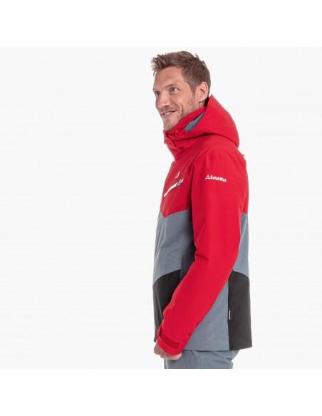 Kurtka narciarska męska Schoffel Bad Gastein Czerwono-Szara