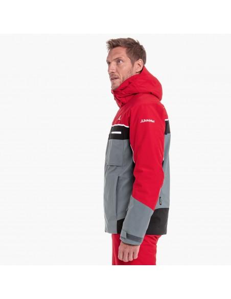 Kurtka narciarska męska Schoffel Bergamo1 Czerwono-Szara