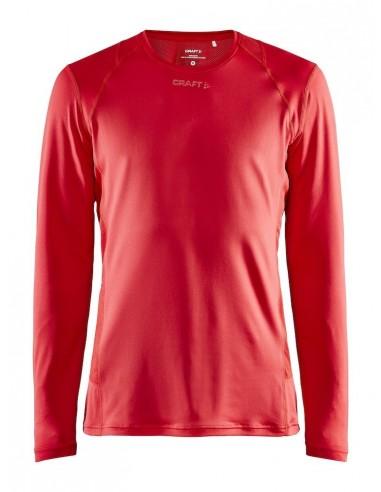 Koszulka z długim rękawem męska Craft ADV Essence LS TEE Czerwona
