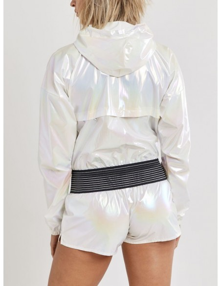 Kurtka damska Craft UNTMD Shiny Hood Biała