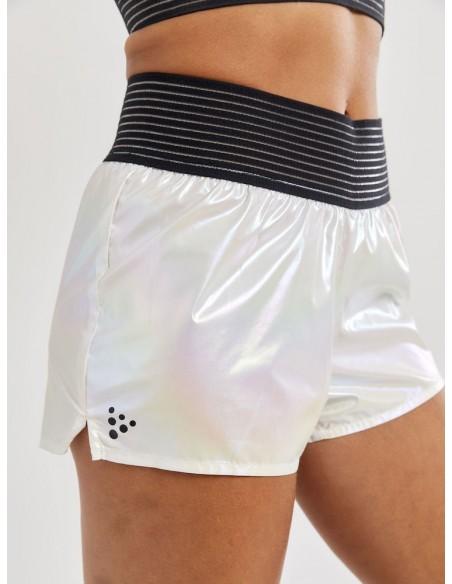 Spodenki damskie Craft UNTMD Shiny Sports Białe