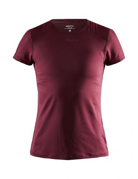 Koszulka damska Craft ADV Essence SS Slim TEE Bordowa