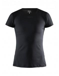 Koszulka damska Craft ADV Essence SS Slim TEE Czarna
