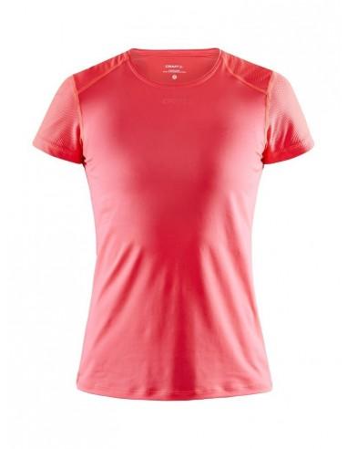 Koszulka damska Craft ADV Essence SS Slim TEE Różowa
