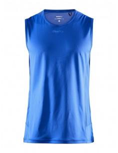 Koszulka bez rękawów męska Craft ADV Essence SL TEE Niebieska