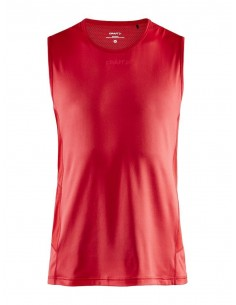 Koszulka bez rękawów męska Craft ADV Essence SL TEE Czerwona