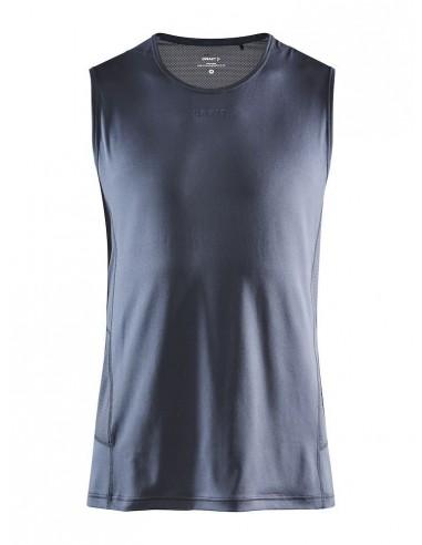 Koszulka bez rękawów męska Craft ADV Essence SL TEE Szaro-Niebieska