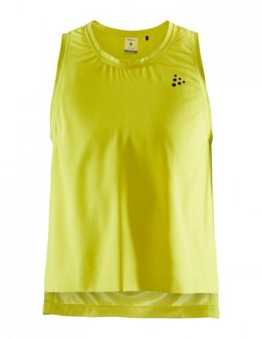 Koszulka bez rękawów damska Craft UNTMD High Slip Top Żółta