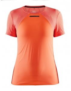 Koszulka damska Craft Vent Mesh SS TEE Pomarańczowo-Różowa