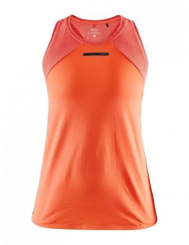 Koszulka na ramiączkach damska Craft Vent Mesh Singlet TEE Pomarańczowo-Różowa