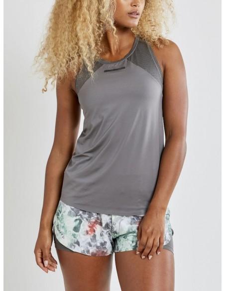 Koszulka na ramiączkach damska Craft Vent Mesh Singlet TEE Szara