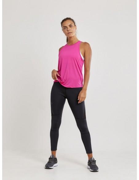 Koszulka na ramiączkach damska Craft Charge Singlet Różowa