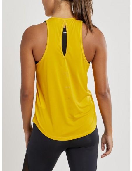 Koszulka na ramiączkach damska Craft Charge Singlet Żółta