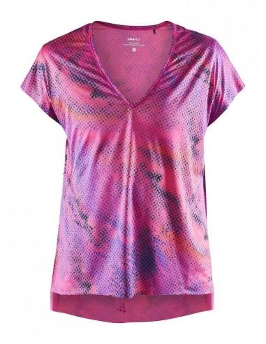 Koszulka damska Craft Charge SS Loose TEE Różowa