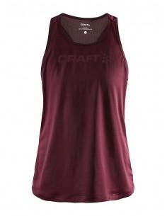 Koszulka na ramiączkach damska Craft Core Essence Mesh Singlet Bordowa