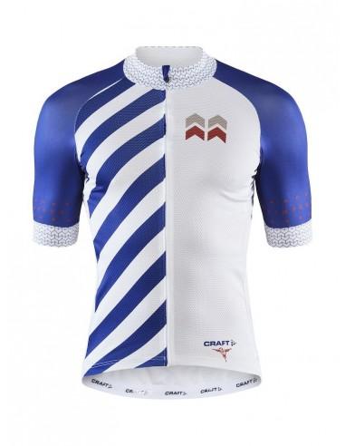 Koszulka rowerowa męska Craft Specialiste SS Biało-Niebieska