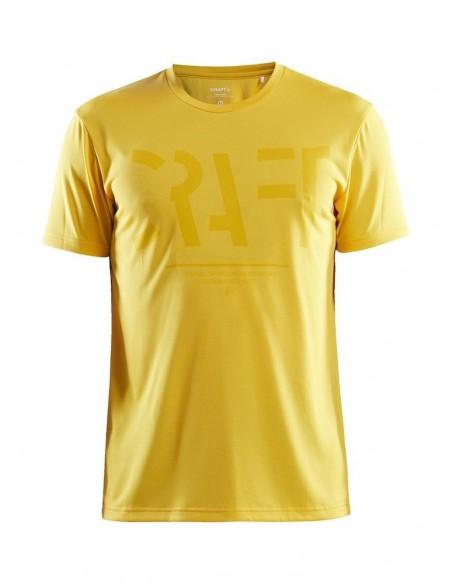 Treningowa Koszulka Męska Craft Eaze SS Logo Mesh Tee Żółta