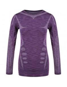 Koszulka z długim rękawem damska Endurance Ascoli, fioletowa